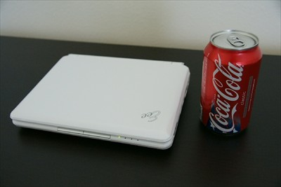 EEE 901 next to coke can for size comparision
