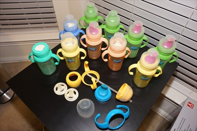 Born Free Sippy Cups Various Colors Lot