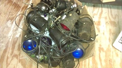 Box of Various Pin Spot Lights