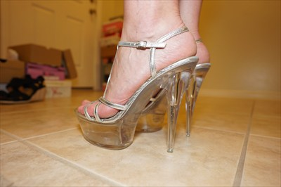 Clear High Heel Platform Stripper Sandals Sexy