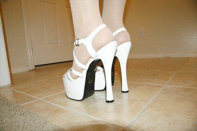 Jante Sexy White Platform Stripper Sandals sz 10 a8166