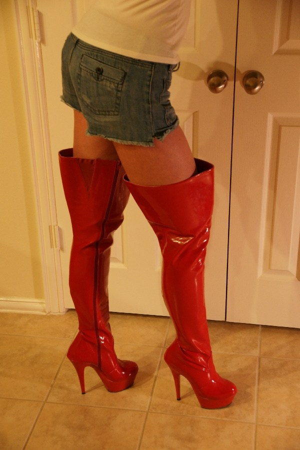 Wife in thigh boots