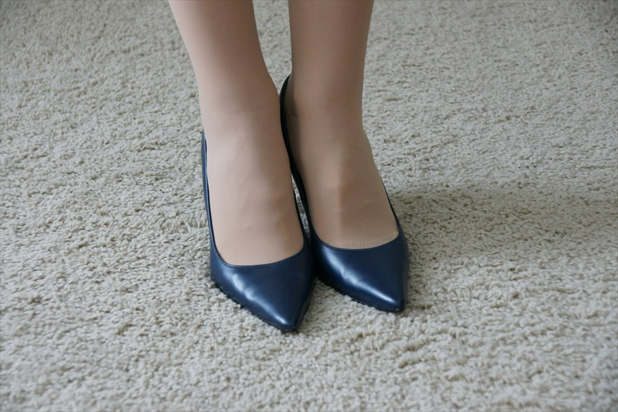 Sexy High Heel Stiletto Navy Blue Pumps
