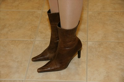 Sexy Steve Madden Zip Boots Brown Pointed Toe TRIALL Cowboy