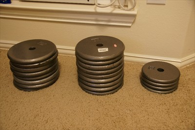 Standard 10 lbs and 5 lbs plates for home gym